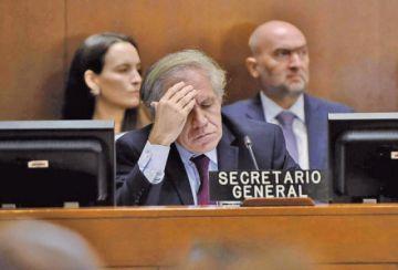 """Almagro dice que quien cometió un """"golpe de Estado"""" fue  Morales"""