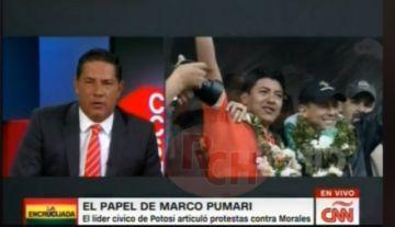 Marco Pumari está en CNN
