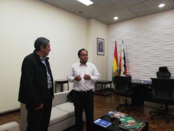Ministro de Deportes se reúne con su antecesor
