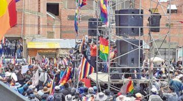 El Alto anuncia cerco entre división y debilitamiento