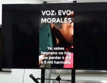 Gobierno muestra video que vincula a Evo con la violencia desatada en el país