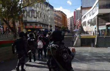 La marcha de Senkata está en el centro de la ciudad de La Paz