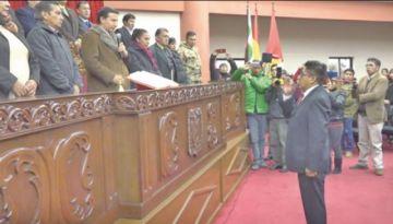Alcalde juró ante el Tribunal de Justicia de Potosí
