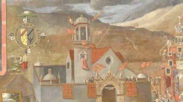 La wiphala aparece en un cuadro de Holguín de 1716