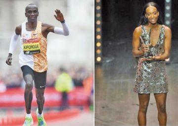 Kipchoge y Muhammad son galardonados atletas mundiales del año