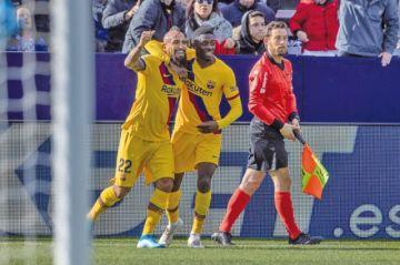 Suárez y Vidal evitan el sonrojo del Barcelona ante el Leganés