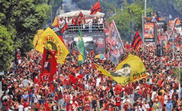 Flamengo festeja en casa el título de la Copa Libertadores