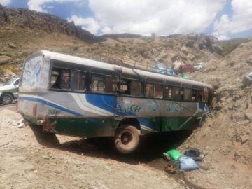 Bus se estrella y ocasiona dos  muertos y 32 heridos en Potosí