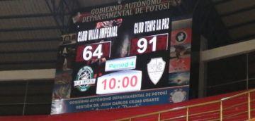 Villa Imperial perdió 64 a 91 ante Club Tenis La Paz