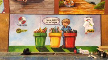 Muestran murales sobre el cuidado del medio ambiente en la escuela Topáter B