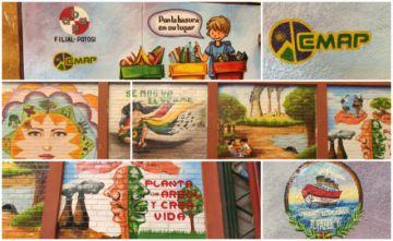 Escuela Topáter B muestra murales medioambientales