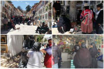 San Andrés  motiva una masiva visita al cementerio