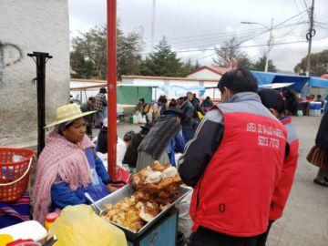 Sedes inspeccionó condiciones de venta de alimentos cerca del Cementerio
