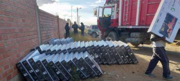 Incautan 118 televisores de contrabando en Oruro