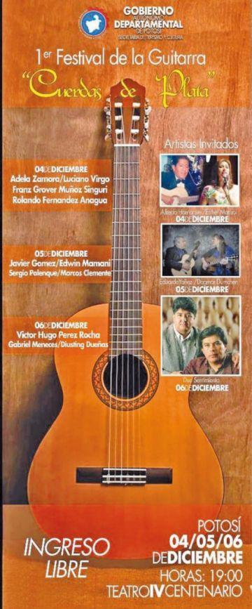 Habrá un Festival de Guitarras del 4  al 6 de diciembre