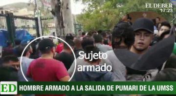 Se ve a hombre armado cerca de Pumari en Cochabamba