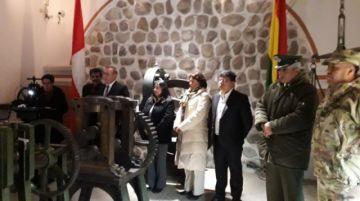 Reinauguran sala de maquinaria a vapor en la Casa de Moneda