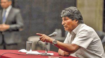 """Expresidente Evo dice que las acusaciones de fraude son """"mentiras"""""""