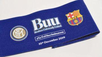 Los capitanes de Inter y Barcelona llevarán brazaletes contra el racismo