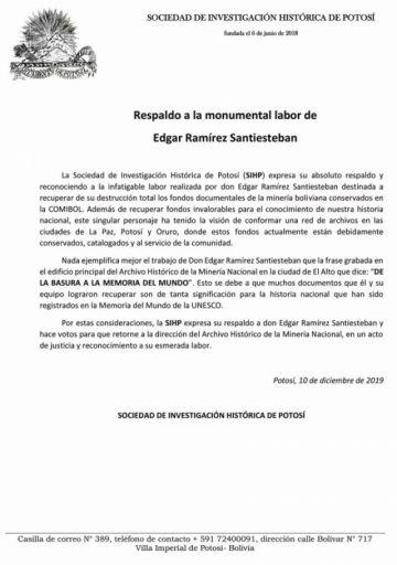 Conmemoran registro de Potosí como patrimonio