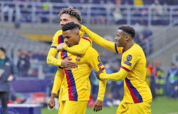 Pérez y Ansu Fati dan triunfo al Barcelona en San Siro y eliminan al Inter