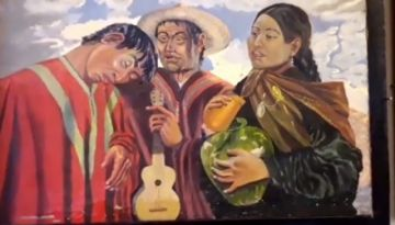 Ensayo del Trío Los Corso para el festival del charango