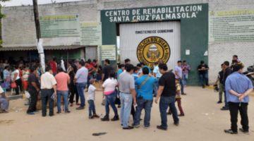 Reos intentan fugarse del penal de Palmasola atando ropa a un muro