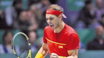 Nadal celebra liderazgo mundial de tenis