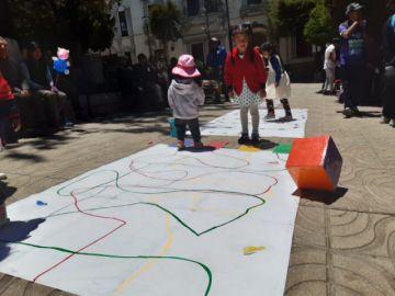 Familias participaron de juegos recreativos