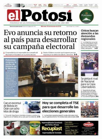 Un cónsul de Evo acapara las portadas de los diarios bolivianos