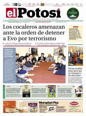 Vocales, Evo y Achacollo copan las portadas de los diarios bolivianos