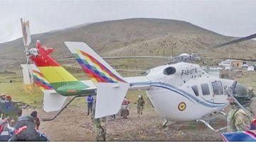 FAB atribuye a exceso de peso incidente del helicóptero de Evo