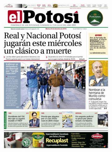 Revise los titulares de la prensa nacional