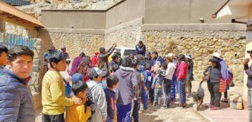 Muchos niños recibieron regalos en diferentes zonas