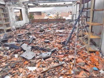 Aseguradora Fortaleza evalúa el edificio quemado del TED