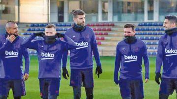 Messi, Suárez y Arturo Vidal se incorporan a los entrenamientos del Barcelona
