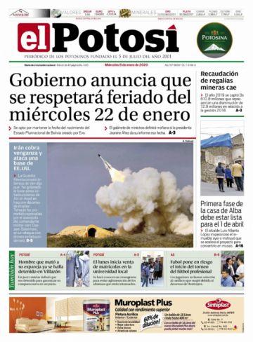 El feriado del 22 de enero es el tema más repetido en la prensa boliviana