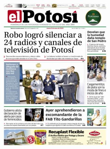 Los 100.000 dólares para Argentina copan las tapas de los diarios bolivianos