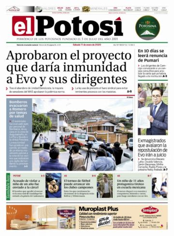 Jeanine, Romero y la ley de inmunidad pugnan en las portadas de este sábado