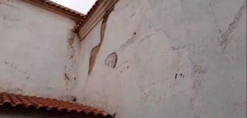 La humedad afecta el templo de San Pedro