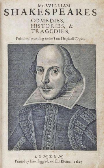 Subastan un ejemplar del Primer Folio de Shakespeare