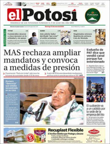 El MAS acapara las portadas de la prensa nacional en domingo