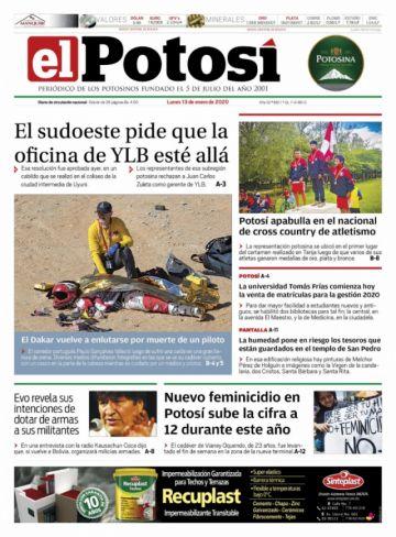 El sueño de las milicias de Evo está en las portadas al iniciar la semana