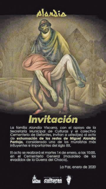 Hoy exhuman los restos de Miguel Alandia Pantoja
