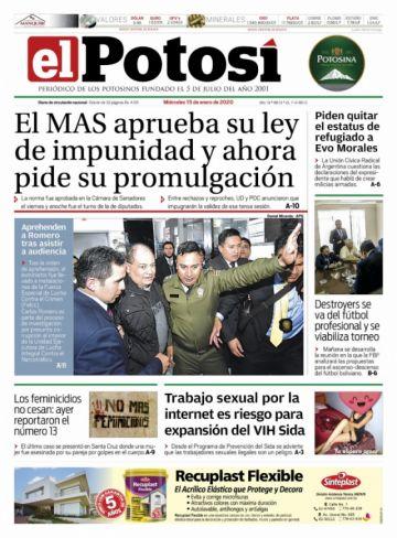Romero le gana a la ley de impunidad en las tapas de los diarios