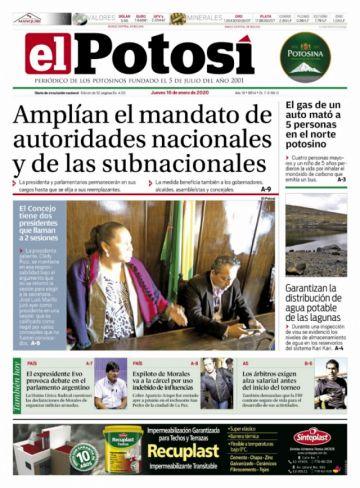 La ampliación del mandato es la noticia del día en los diarios nacionales