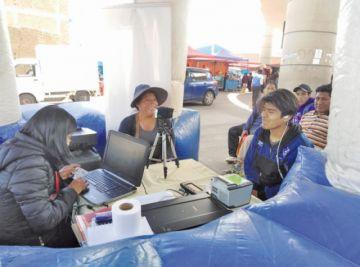 Se habilita 44 puntos para el registro biométrico en Potosí