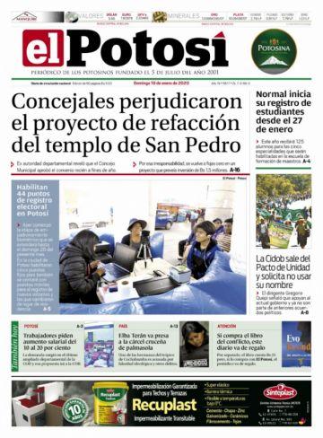 Elba Terán aparece en las tapas de los diarios dominicales