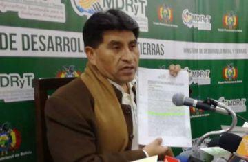 Fiscalía admitió denuncia contra Cocarico por el caso Adepcoca
