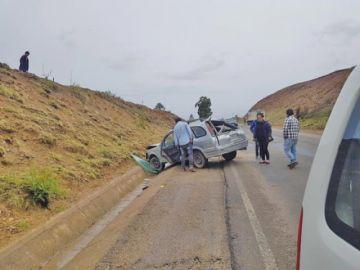 Reportan accidente en la vía a Turuchipa